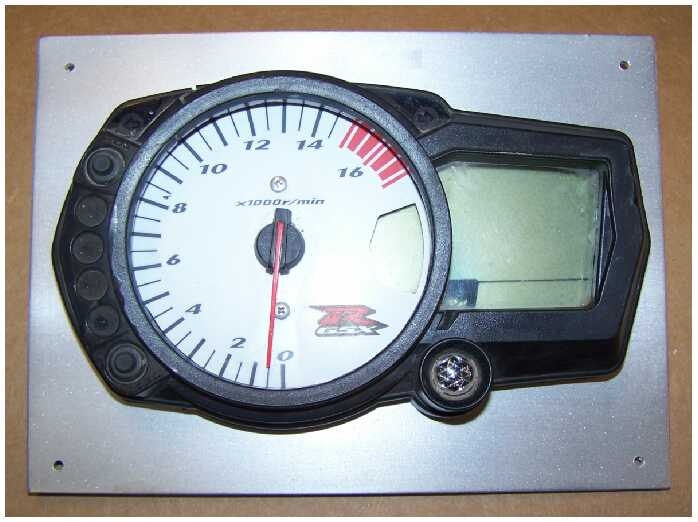 gsxr 1000, 750, 600 nxs dash plate  made to fit stock dash for a clean gsxr  instrument cluster look  just as shown, easy install  $30