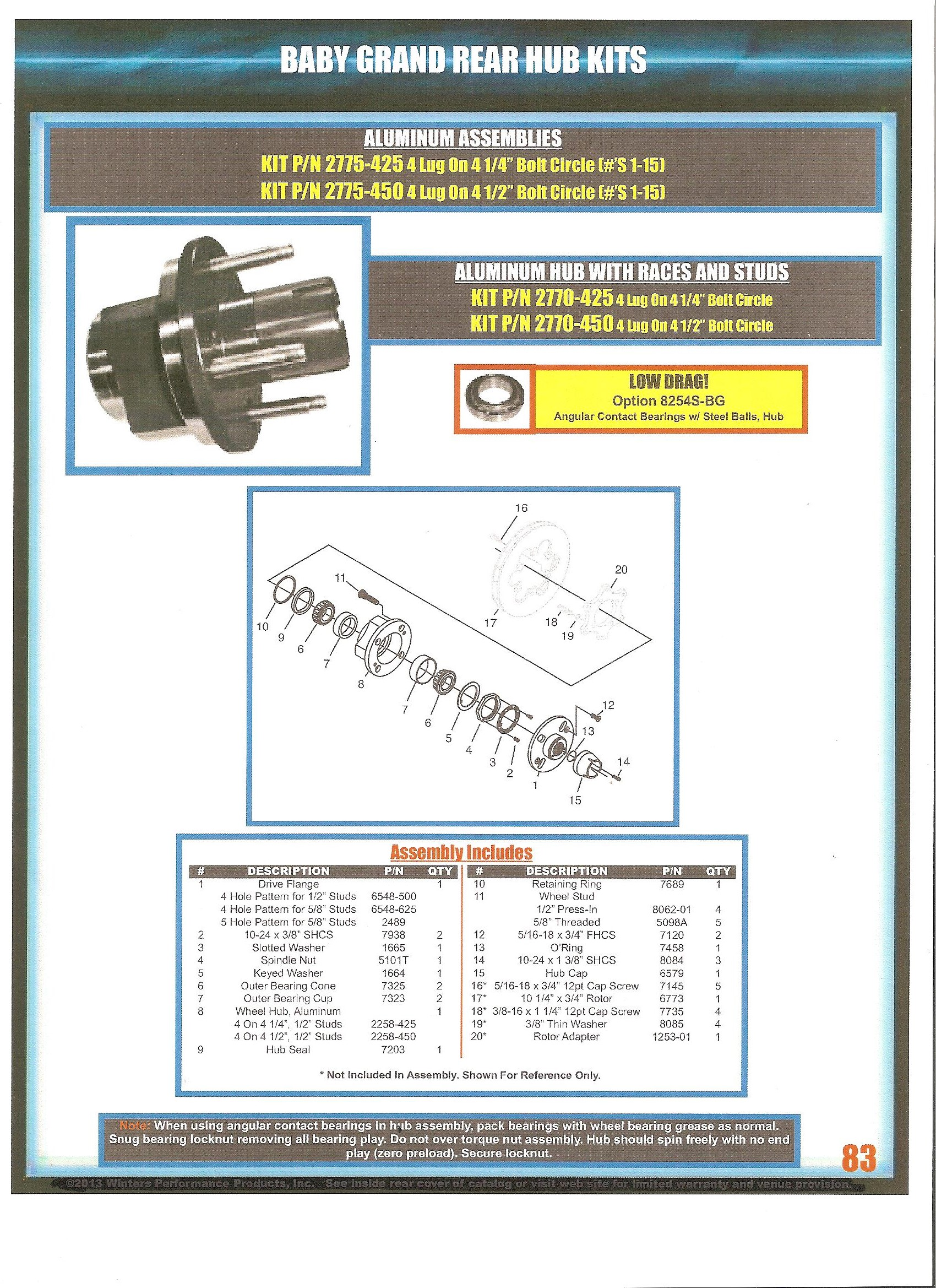 Dwarf Car Modified Lite Winters Quick Change Rearends And Parts Hub Assembly Diagram Qc Baby Grand Hubs List Click Image To Enlarge